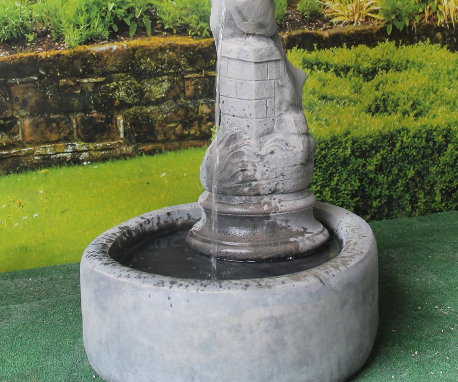 Water Jug Pouring Lady Fountain Stone Garden Ornaments