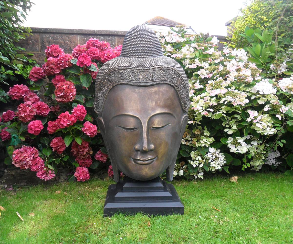 Beautiful Large Buddha Head Stone Garden Ornaments Garden Statues In Uk